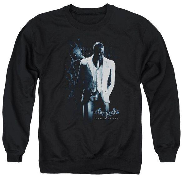 Batman Arkham Origins Mask Adult Crewneck Sweatshirt