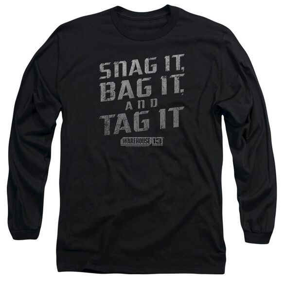Warehouse 13 Snag It Long Sleeve Adult T-Shirt