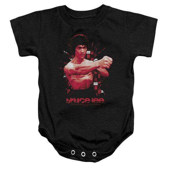 Bruce Lee The Shattering Fist Infant Snapsuit Black