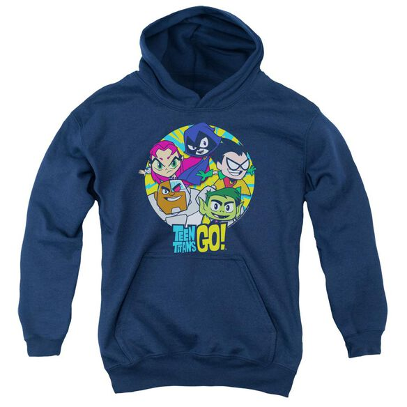 Teen Titans Go Go Go Group Youth Pull Over Hoodie