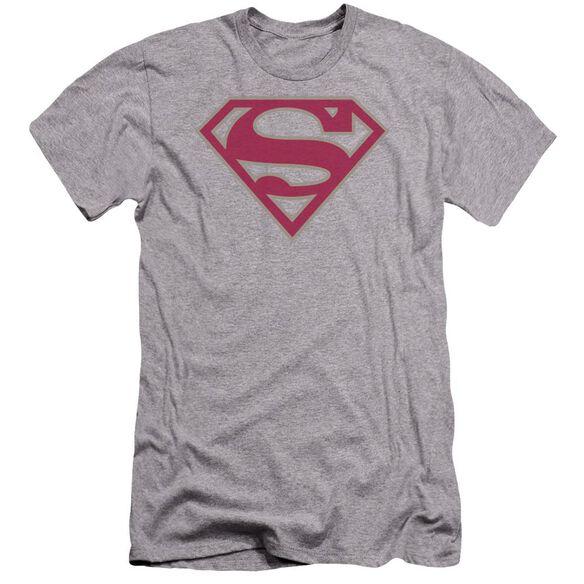 Superman Crimson & Gray Shield Premuim Canvas Adult Slim Fit Athletic