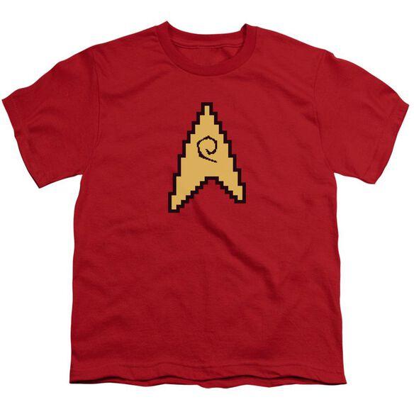 Star Trek 8 Bit Engineering Short Sleeve Youth T-Shirt