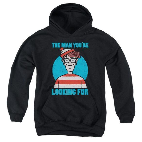 Wheres Waldo Looking For Me Youth Pull Over Hoodie