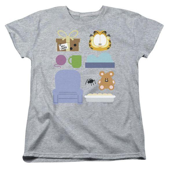 Garfield Gift Set Short Sleeve Womens Tee Athletic T-Shirt