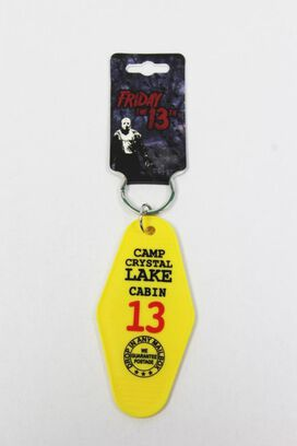 Friday the 13th Camp Crystal Lake Cabin Keychain