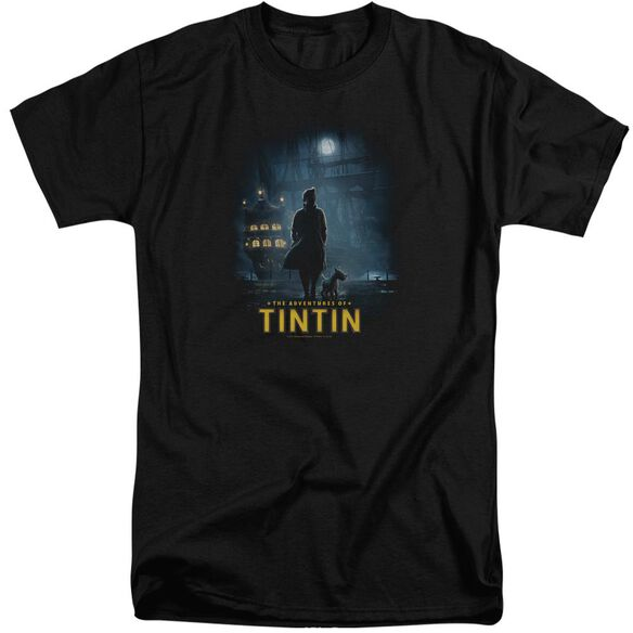 Tintin Title Poster Short Sleeve Adult Tall T-Shirt