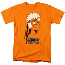 Naruto Shippuden Naruto Distressed Short Sleeve Adult Orange T-Shirt