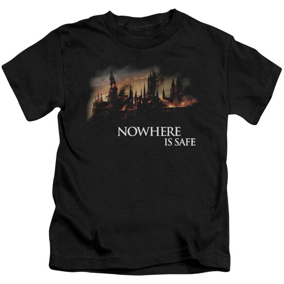 Harry Potter Burning Hogwarts Short Sleeve Juvenile T-Shirt