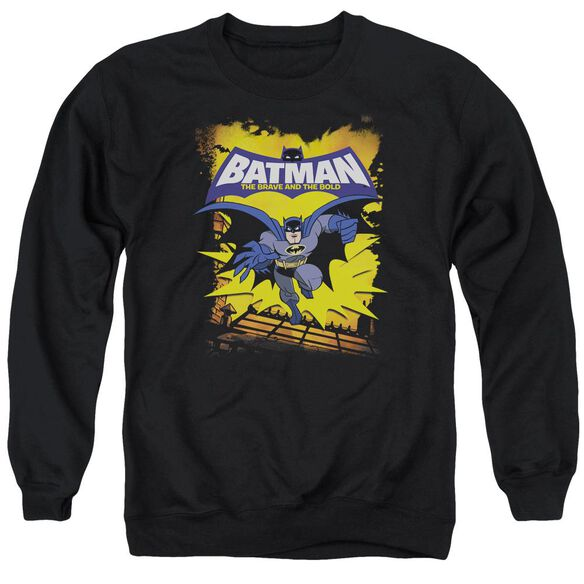 Batman Bb Rooftop Leap Adult Crewneck Sweatshirt