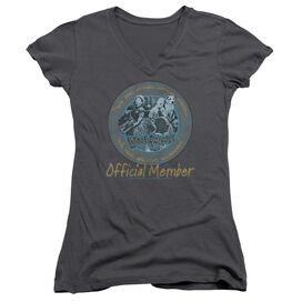 LITTLE RASCALS HE MAN WOMAN HATERS - JUNIOR V-NECK - CHARCOAL