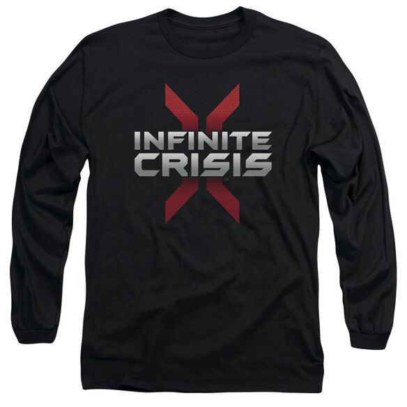 Infinite Crisis Logo Long Sleeve Adult T-Shirt
