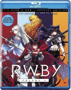 RWBY Vol 4 [Exclusive Special Edition Blu-ray+DVD Combo][Includes Collectible Crescent Rose Action Card]