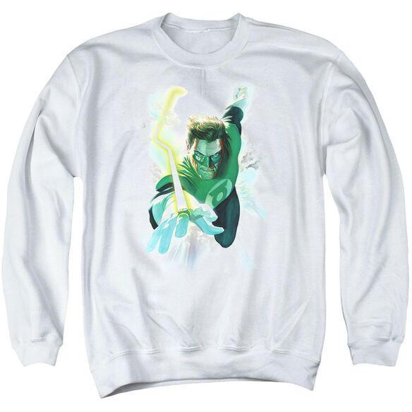 Green Lantern Clouds Adult Crewneck Sweatshirt