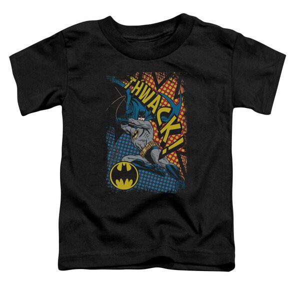 Batman Thwack Short Sleeve Toddler Tee Black Sm T-Shirt