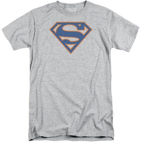 Superman Blue & Orange Shield Short Sleeve Adult Tall Athletic T-Shirt