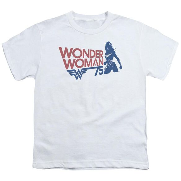 Wonder Woman Ww75 Silhouette Short Sleeve Youth T-Shirt