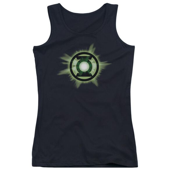 Green Lantern Green Glow Juniors Tank Top
