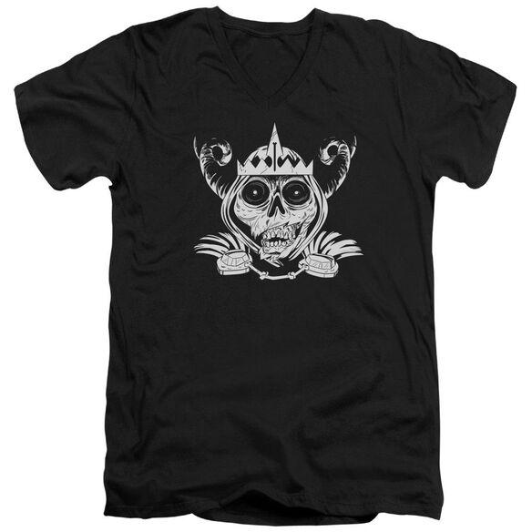 Adventure Time Skull Face Short Sleeve Adult V Neck T-Shirt