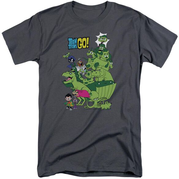 Teen Titans Go Beast Boy Stack Short Sleeve Adult Tall T-Shirt