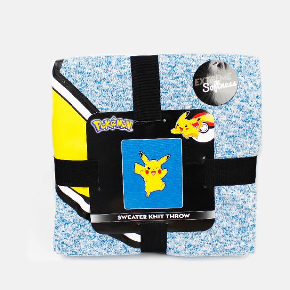 Pokemon Pikachu Sweather Knit Throw Blanket