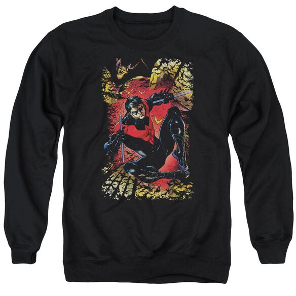 Jla Nightwing #1 Adult Crewneck Sweatshirt