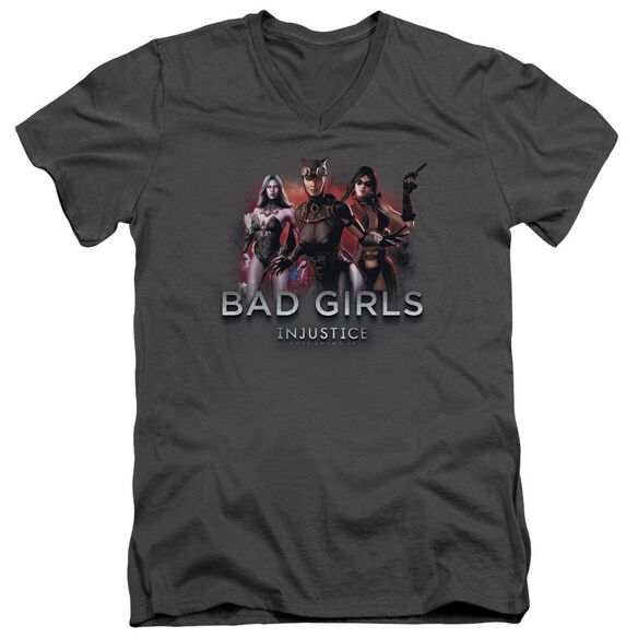 Injustice Gods Among Us Bad Girls Short Sleeve Adult V Neck T-Shirt