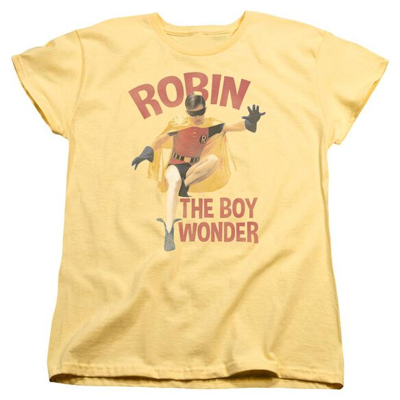 Batman Classic Tv Boy Wonder Short Sleeve Womens Tee T-Shirt