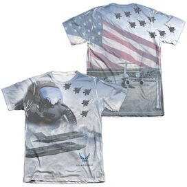 Air Force Pilot (Front Back Print) Adult Poly Cotton Short Sleeve Tee T-Shirt