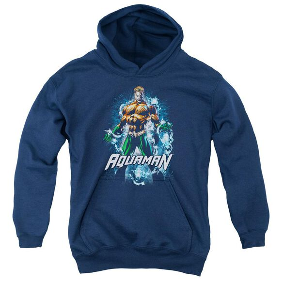 Jla Water Powers Youth Pull Over Hoodie
