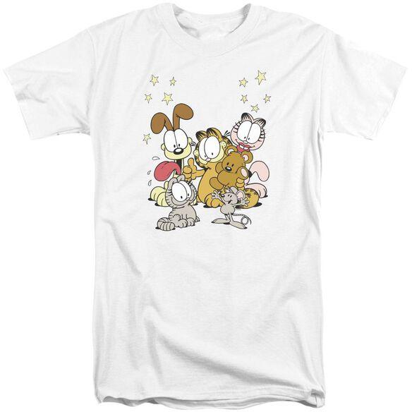 Garfield Friends Are Best Short Sleeve Adult Tall T-Shirt