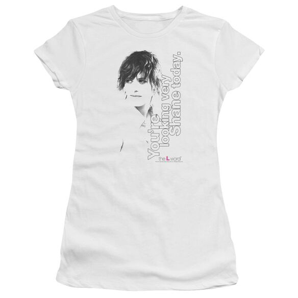 The L Word Looking Shane Today Short Sleeve Junior Sheer T-Shirt