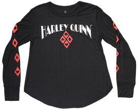 Harley Quinn Cards LS Juniors T-Shirt