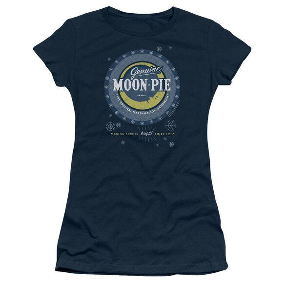 Moon Pie Snowing Moon Pies Short Sleeve Junior Sheer T-Shirt