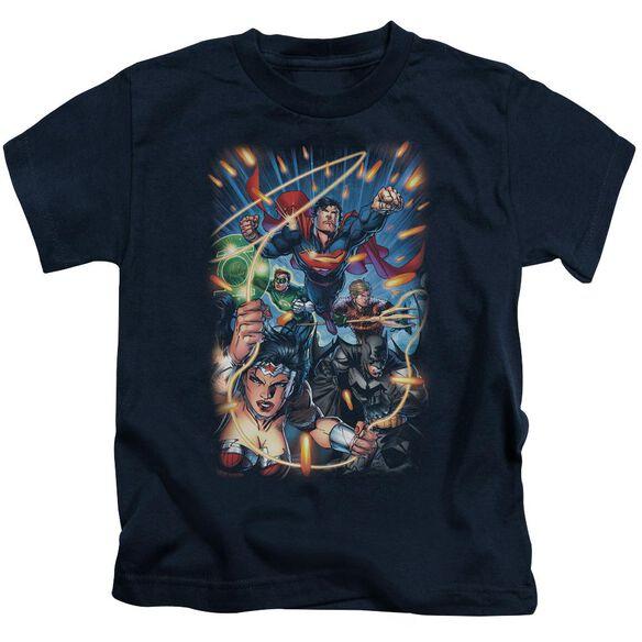 Jla Under Attack Short Sleeve Juvenile T-Shirt