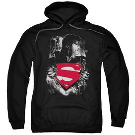 Superman Darkest Hour Adult Pull Over Hoodie