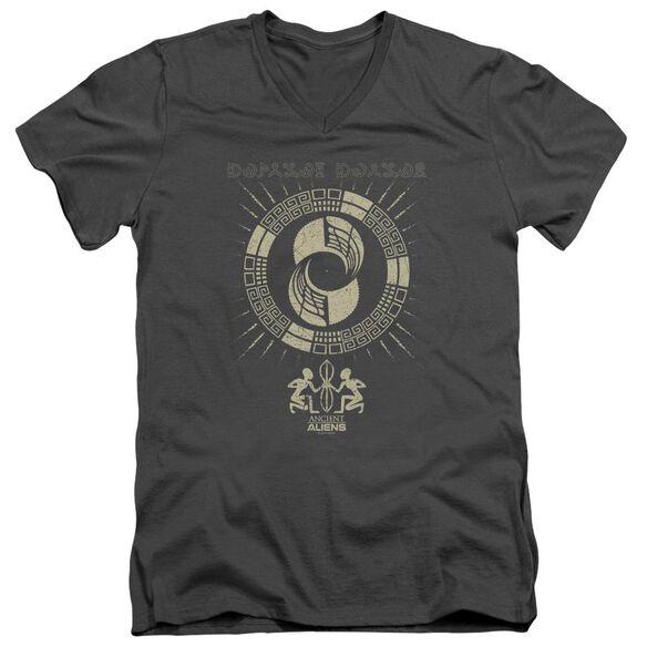 Ancient Aliens Glyphs Short Sleeve Adult V Neck T-Shirt