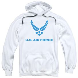 Air Force Distressed Logo Adult Pull Over Hoodie