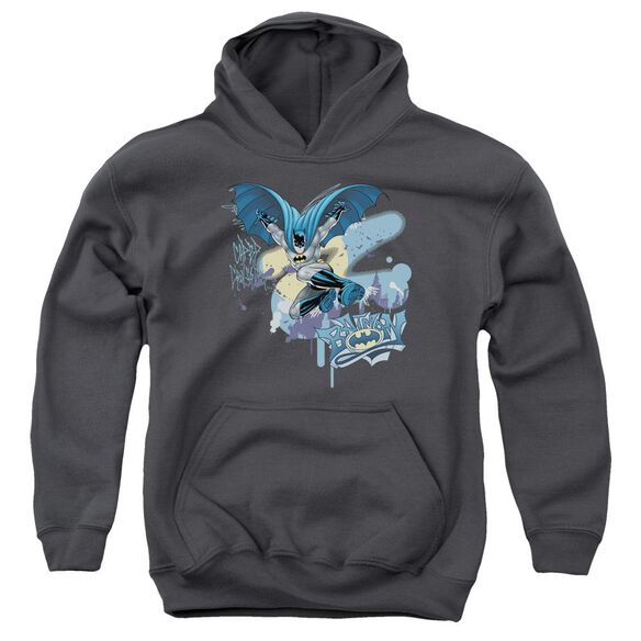 Batman Into The Night Youth Pull Over Hoodie