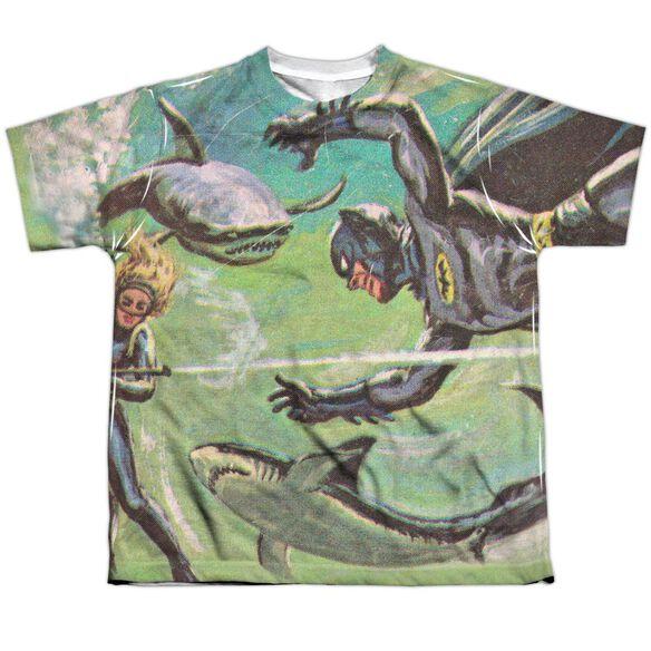 Batman Classic Tv Underwater Short Sleeve Youth Poly Crew T-Shirt