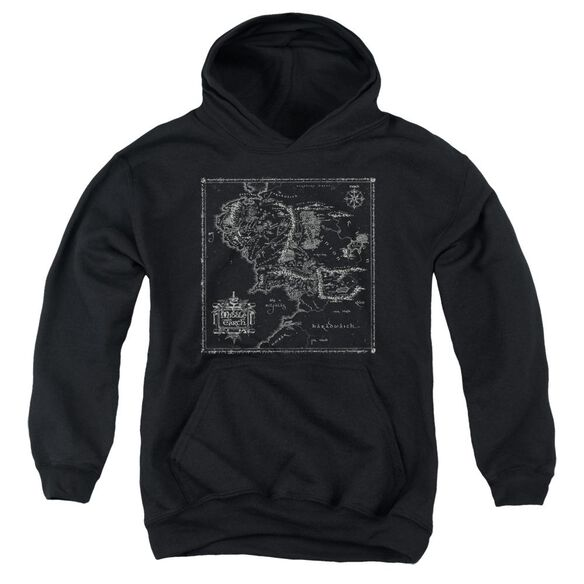 Lord Of The Rings Map Of Me Youth Pull Over Hoodie