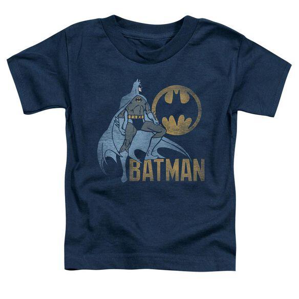 BATMAN KNIGHT WATCH - S/S TODDLER TEE - NAVY - T-Shirt