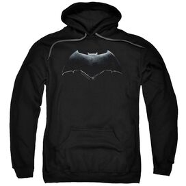 Justice League Movie Batman Logo Adult Pull Over Hoodie Black