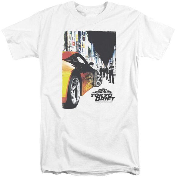 Tokyo Drift Poster Short Sleeve Adult Tall T-Shirt
