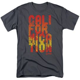 Californication Cali Type Short Sleeve Adult Charcoal T-Shirt