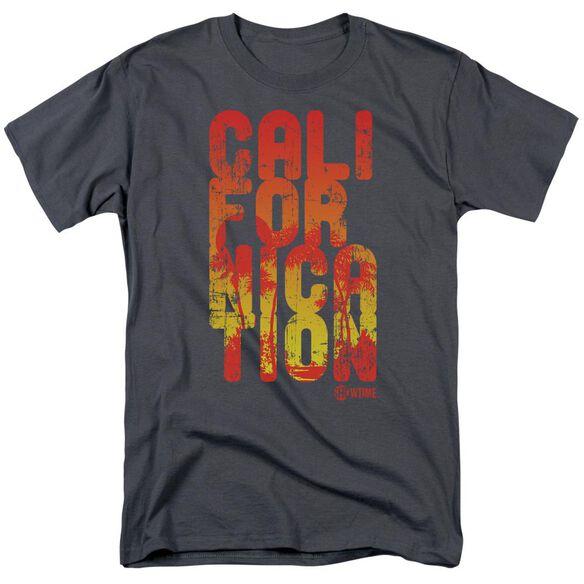 Californication Cali Type Short Sleeve Adult Charcoal T-Shirt