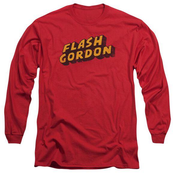 Flash Gordon Logo Long Sleeve Adult T-Shirt