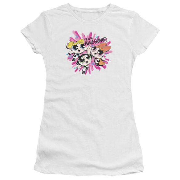 Powerpuff Girls Team Awesome Short Sleeve Junior Sheer T-Shirt