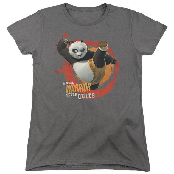Kung Fu Panda Real Warrior Short Sleeve Women's Tee T-Shirt