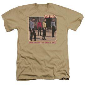 Star Trek Red Shirt Blues - Adult Heather - Sand