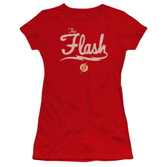 Jla Old School Flash Premium Bella Junior Sheer Jersey
